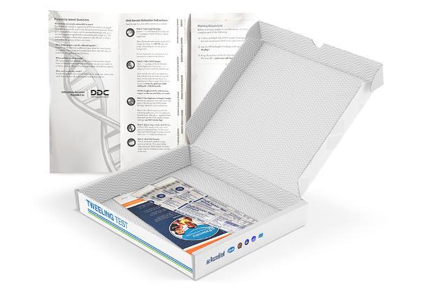 Tweeling homozygoot DNA test kit
